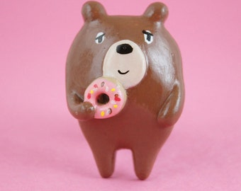 Donut Bear Brooch (011)
