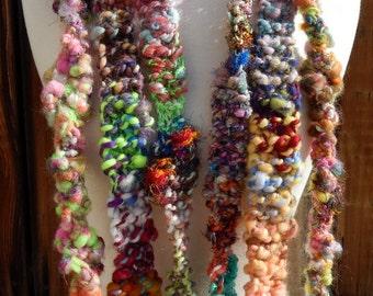 Handspun Yarn-Crocheted Scarves Collection