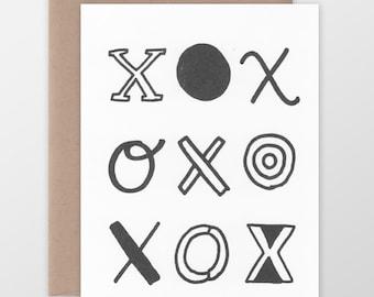 XOXO Funky Type Card
