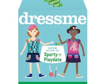 Dressme Pattern Set - Sporty & Playdate Dresses - Sizes 2-6
