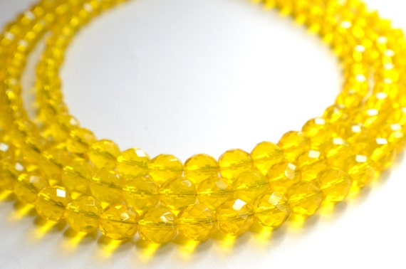 The Anna Marie- Yellow Czech Glass Chunky Necklace