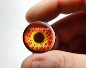 Glass Eyes - Red Zombie Human Doll Taxidermy Eyes Handmade Glass Cabochons for Steampunk - Pair or Single - You Choose Size