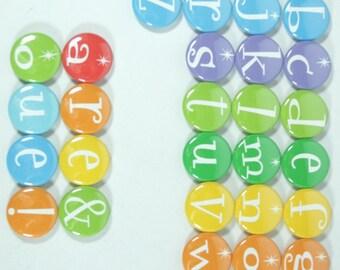 Set of 32 dry erase board magnets, calendar letter magnets