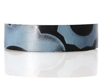 Recycled Vinyl Record Puff Cuff Bracelet