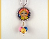 """Jasmine Becket Griffith  """" A Little Bit of Spring """"  necklace"""