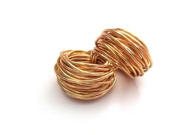 Gold Bird Nest Ring