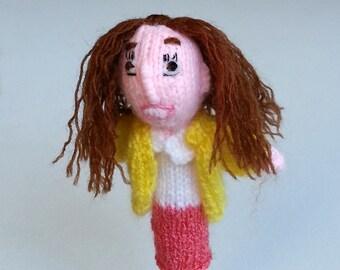 Unbreakable Kimmy Schimdt style finger puppet