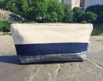 Toiletry Bag Canvas, Travel Bag, Canvas Bag, Canvas Makeup Bag, Cosmetic Bag, Canvas Pouch