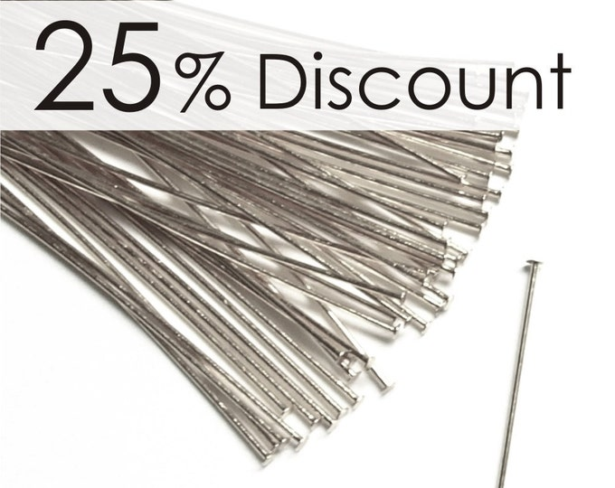 HPBSP-5024 - Head Pin, 2 in/24 ga, Silver - 500 Pieces (10pk)
