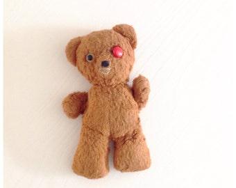 Vintage One-Eyed Teddy Bear 1930s