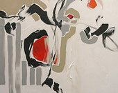 Giclee Print Abstract Painting Black White Red Abstract Art Abstract Expressionist Modern Made To Order Large Fine Art Print Linda Monfort