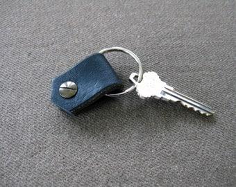 Leather key fob - Black