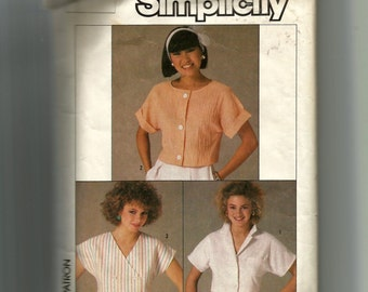 Simplicity Misses' Set of Tops Pattern 6877