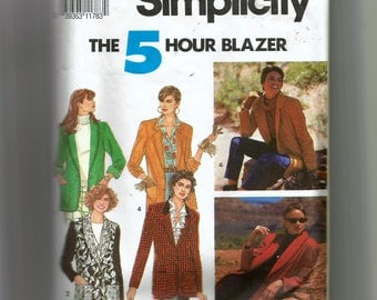 Simplicity Misses' Jacket With Shawl Pattern 7522