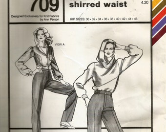 Stretch & Sew Ladies Pants With Tailored or Shirred Waist Pattern 709