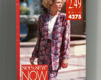 Butterick Misses' Jacket and Dress Pattern 4275
