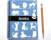 Personalized planner for cat lover, weekly planner, custom gift idea, cat gift, 2016 2017 calendar, cat present, SKU: pli cat white