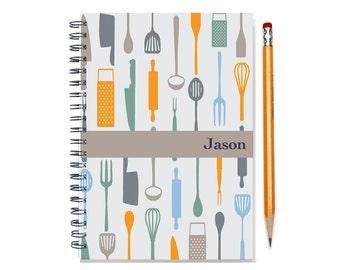 Personal Planner for a Foodie, Custom Calendar, Chef Gift, Foodie Present, Custom Gift Idea, 2016 planner, organizer, SKU: pl chef neut