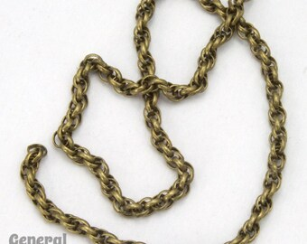 1.6mm Antique Brass Spiral Rope Chain #CCE221