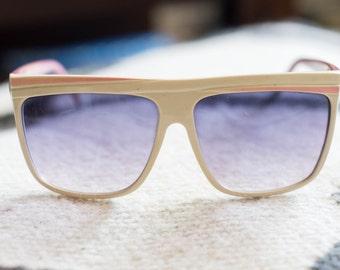 SALE Womens Vintage White Ski Sunglasses From 1980s