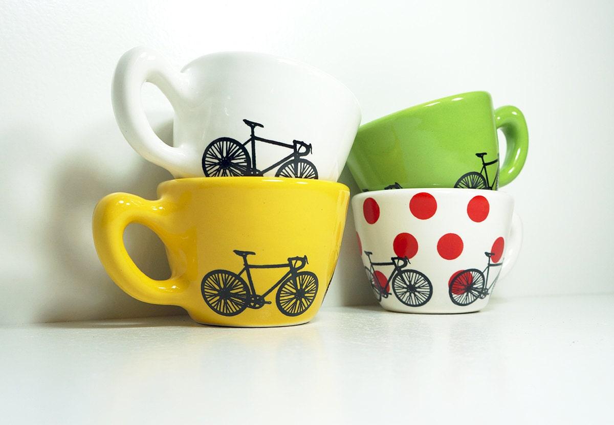 Tour de France 12oz cups set of 4, Made to Order.