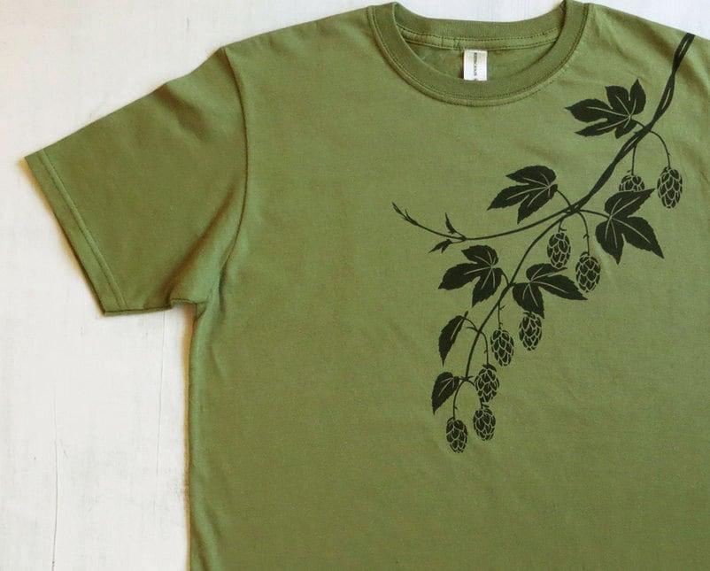 Mens Graphic Tee Organic Cotton T Shirt Mens Green T Shirt