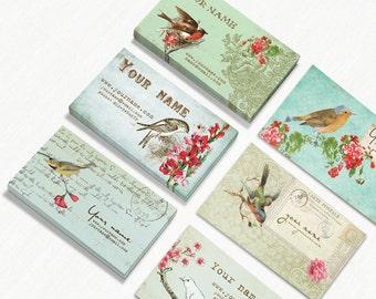 Business Cards  Custom Business Cards  Personalized Business Cards  Business Card Template  Vintage Business Cards  Bird Business Cards  1