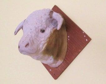 vintage taxidermy cow head