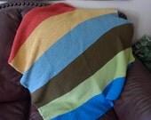 Striped Garter Stitch Baby Blanket