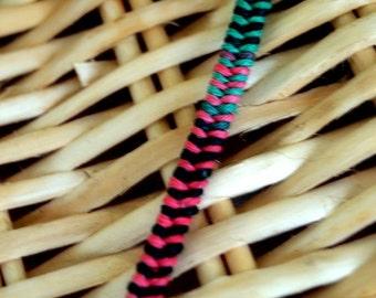 Variegated Woven Men's Hemp Bracelet