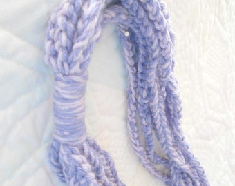 Two Toned Purple Crocheted Scarf - Summer Scarf - Spring Scarf - Birthday Gift - Christmas Gift