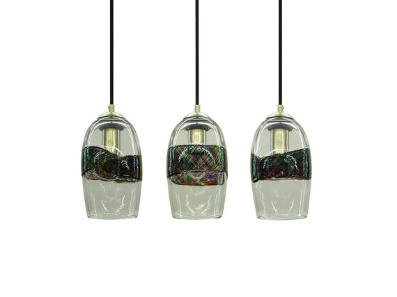 hand blown glass lighting pendant light or chandelier by rebecca