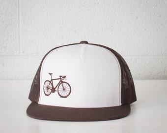 vital BICYCLE TRUCKER CAP os brown on brown
