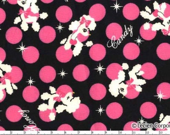 Lecien Japanese Kawaii Poodles Fabric FQ