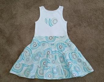 Boutique Custom Summer Dress! Tank Dress! Size 6/7! Ready to ship!