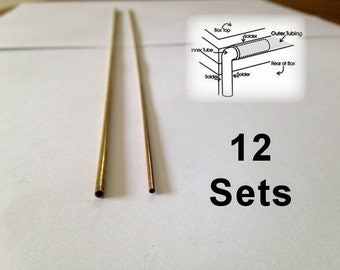 Solid Brass BOX HINGES - Tube Hinge for Boxes - 12 sets