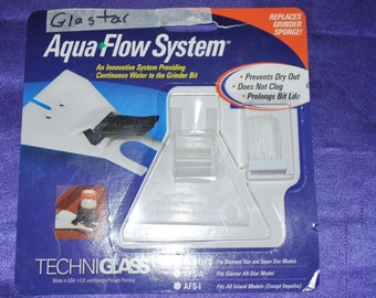 Aqua Flow System for Glastar Glass Grinders - Replaces Sponge for Continuous Water Flow and Cleaning