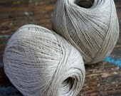 Linen yarn thread -- one ball -- natural -- 3-ply