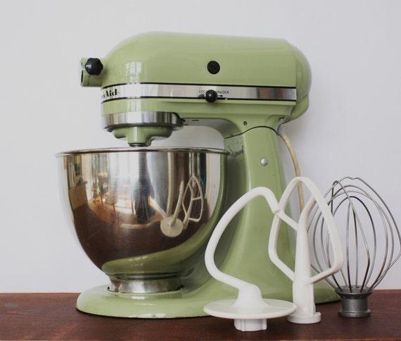 Green Kitchenaid Food Processor: Vintage Avocado Green Kitchenaid Standing Mixer With Bowl And