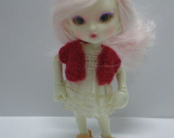 Realpuki Knitted Cardigan in Red