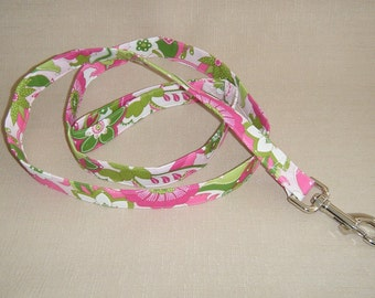 Pink green flowers  - Dog Leash