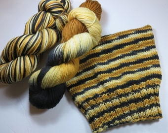 Hand Painted Superwash Merino Worsted Yarn -- Bengal Tiger