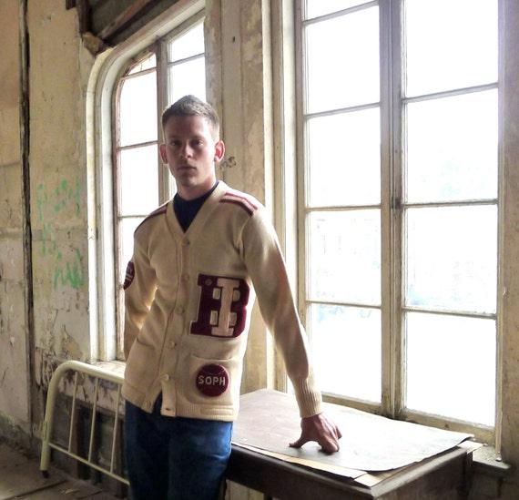 Chicago Knitting Mills : Varsity sweater cardigan