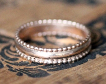 Rose gold wedding band, rose gold ring, 14k gold ring, recycled gold wedding band, vintage lace style wedding band, unique made to order