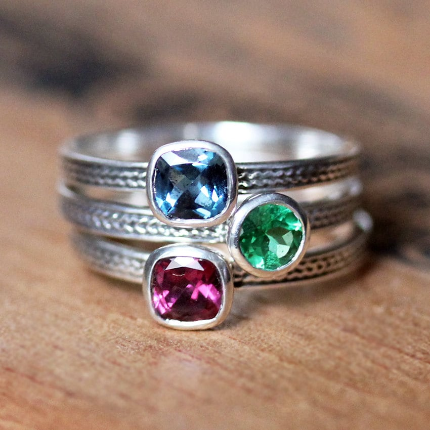 custom stacking ring unique mothers ring stackable mothers