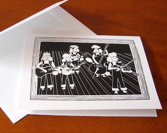 Bluegrass Poodles - Humorous Greeting Card