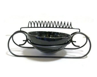 Vintage Mid Century Ashtray | Bent Wire With Spiral Cigarette Rest