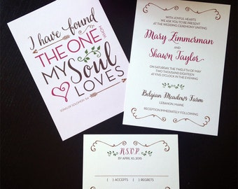 Romantic Love Quote Wedding Invitation