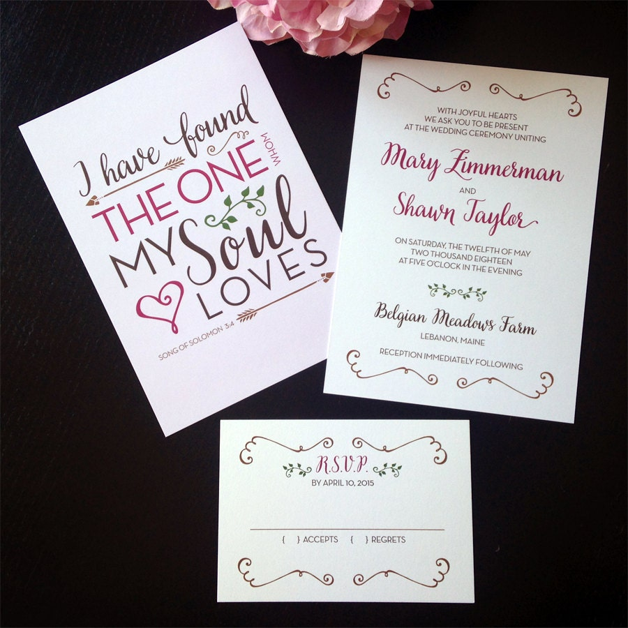 Quote For Wedding Invitation: Romantic Love Quote Wedding Invitation