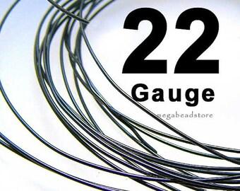30 feet (1 oz) 22 Gauge Black Oxidized 925 Sterling Silver Wire Half Hard HH Wholesale